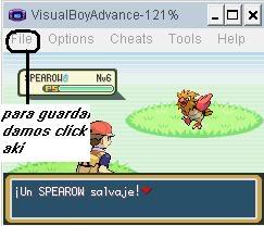 emulador de GBA + pokemon rojo fuego Tut0