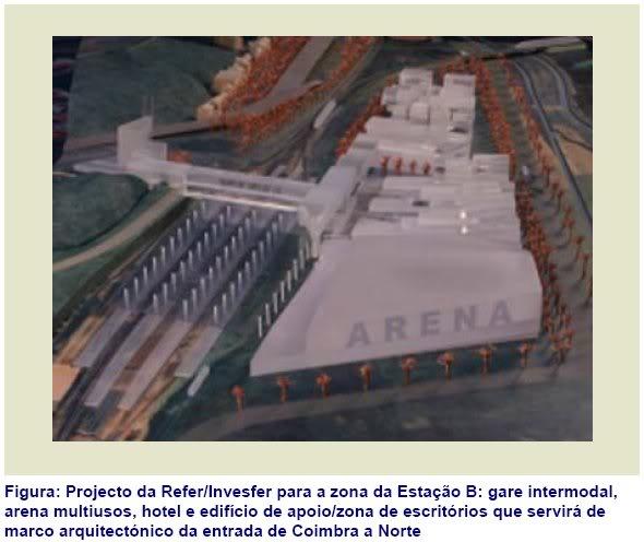 Estação Intermodal - Projecto do gabinete MMBB CoimbraB