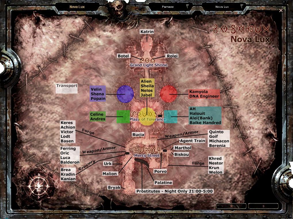 Mapa de npcs Nova Lux (importante para quest) NovaLuxNPCcopy-1