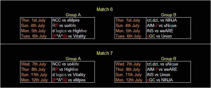 NCC Cup Matches NEWFIXTURE6-7