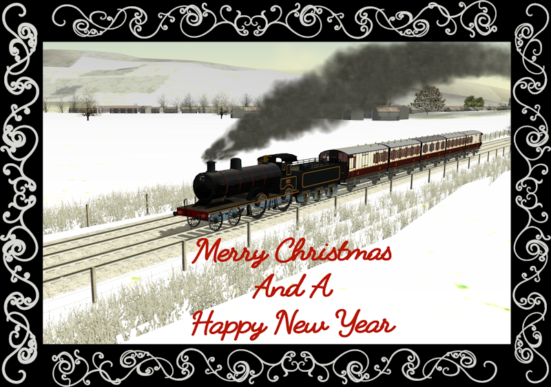 Christmas Greetings to everyone on TSSH LNWR_Precurser-framed_zpshj9a53xt