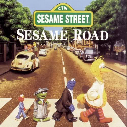 Hommage à Abbey Road Album-Sesame-Street-Characters-Sesa