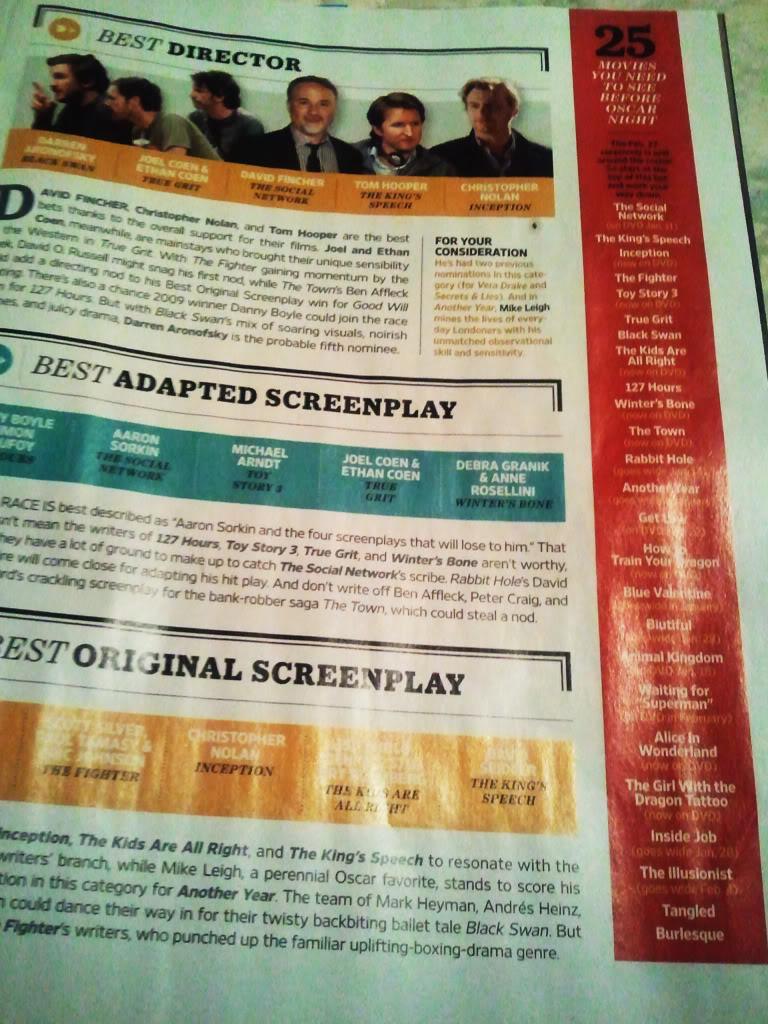Entertainment Weekly incluye a Burlesque entre las 25 películas para ver en la noche de los Oscar  Burlesqueew
