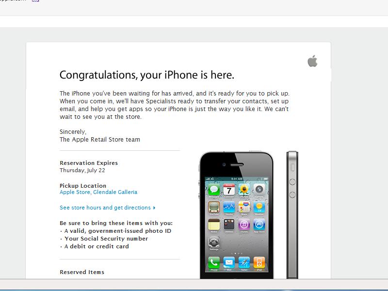 I finally got it! Iphone4