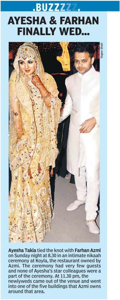 Ayesha Takia's Wedding Picx!! 2