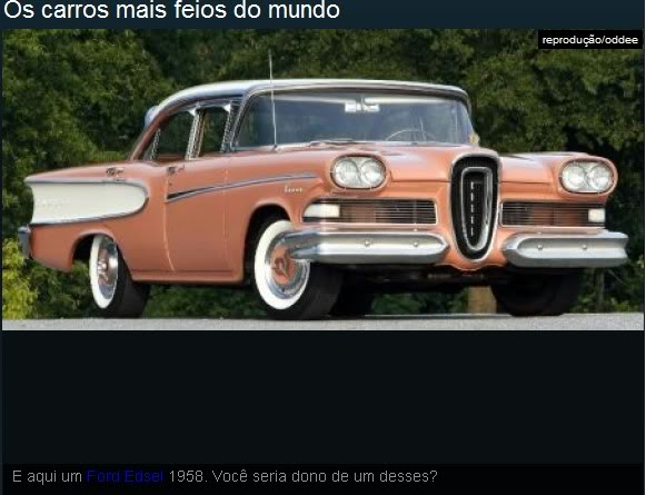 Os carros mais feios do mundo! Ea6
