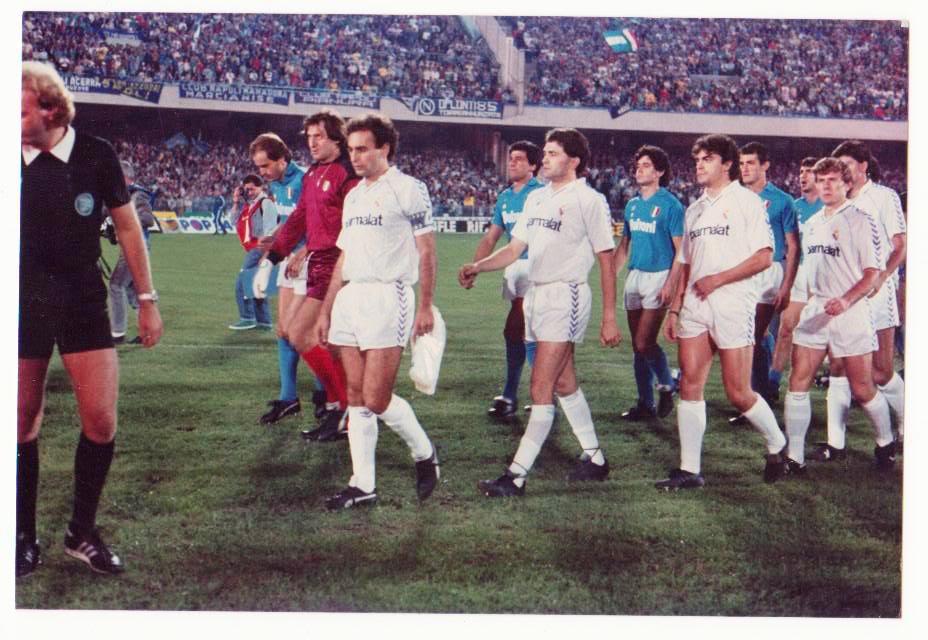 Eliminatoria historica, Copa de Europa 1987/1988, Real Madrid-Napoles (2-0 y 1-1) 1987napolirealmadrid