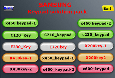 SAMSUNG keypad Solution pack Samsunpak