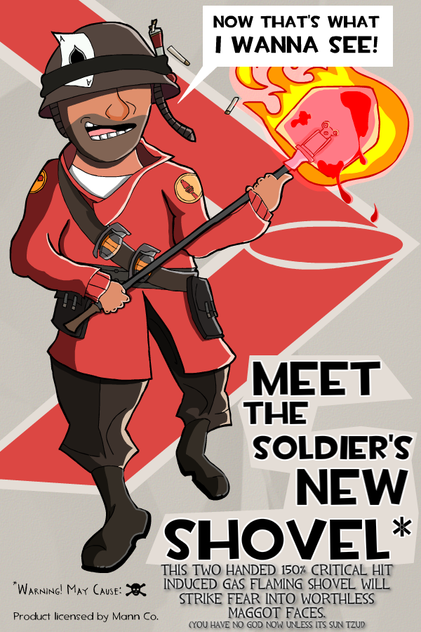 Soldier poster TheSoldiersNEWAMAZINGSHOVEL