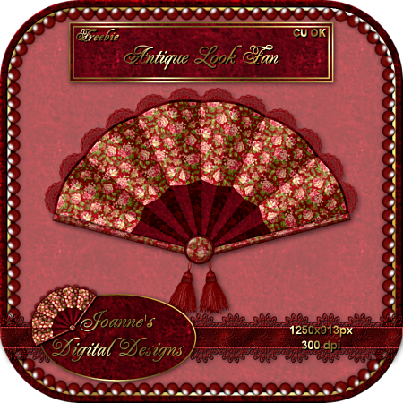Beautiful Antique Look Fan ( Joanne's Digital Designs) JDDAntiqueLookFanCUFreebiePreview-n