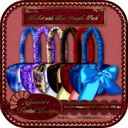 CU Blog Freebie - Basket with Bow Sample Pack  Joanne M JDDBasketwithBowSamplePackPreview