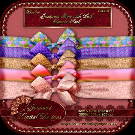 Bow and Sash Sample Pack (Joanne's Digital Designs) JDDBowandSashSamplePackPreview