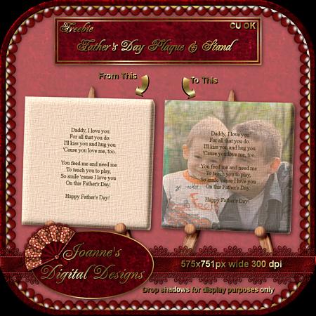New CU Blog Freebie - Father's Day Poem and Stand JDDFathersDayPoemStandCUFreebiePrev
