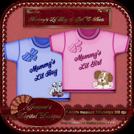 Mommy's Lil Boy & Girl T-Shirts (jOANNES dIGITAL dESIGNS) JDDMommysLilBabiesT-ShirtsCUFreebie