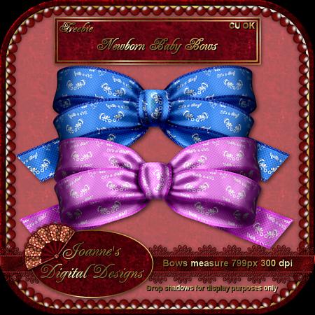 Newborn Baby Bows (Joannes Digital Designs) JDDNewbornBabyBowsCUFreebiePreview