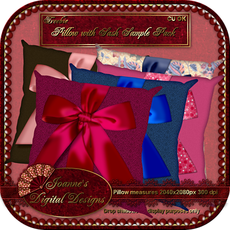 Pillow with Sash Sample Pack (Joanne's Digital Designs) JDDPillowwithSashSamplePackPreview