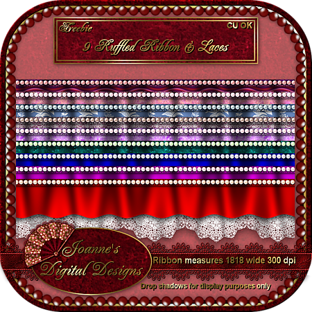New CU Blog Freebie - Ruffled Ribbon & Lace JDDRuffledRibbonLaceCUFreebiePrevie