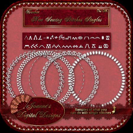 Single Sewing Stitches Pack - By: Joanne's Digital Designs JDDSewingStitchesSingleCUFreebiePre