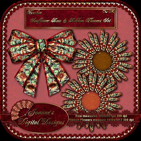 Sunflower Bow - By: Joanne's Digital Designs JDDSunflowerBowRibbonSetPreview