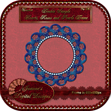 Heart, Rose, and Pearls Frame By: Joanne's Digital Designs JDDroses-diamonds-and-pearls-fra-1
