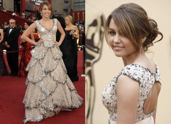 Оценете облеклото MileyCyrusOscarDress