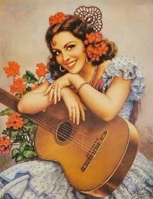 pinturas de helguera Guitarra