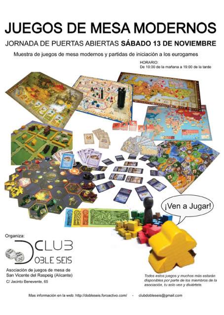 II Jornada de Puertas Abiertas Club Doble Seis 13-Noviembre Cartel-1