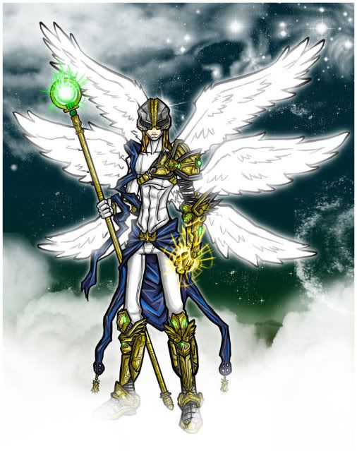 For all the Little Stingers out there Angemon__The_Garbed_Light_by_Kiarou