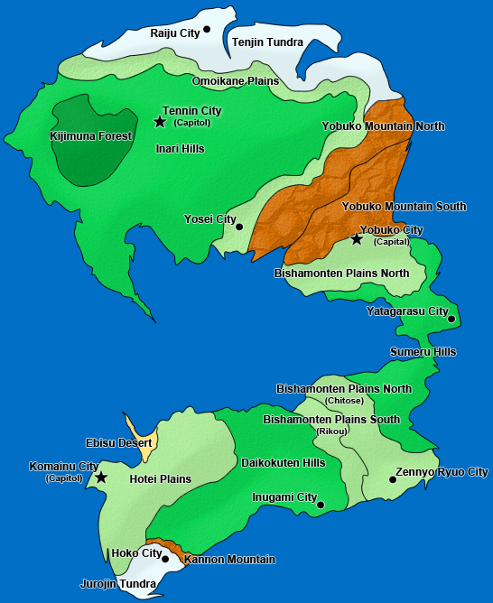 Six Kingdom's World Map AUWorldMapTer007