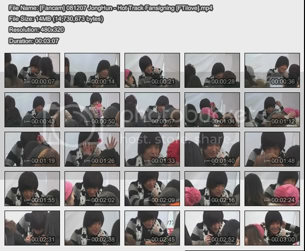 FT Island Download Fancam081207JongHun-HotTrackFansign