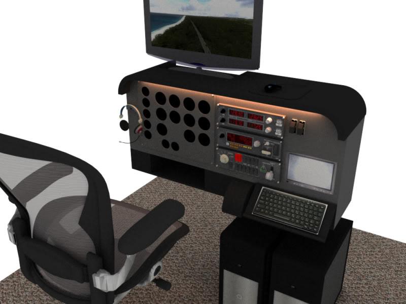 Cockpit Aviação Geral Projeto01