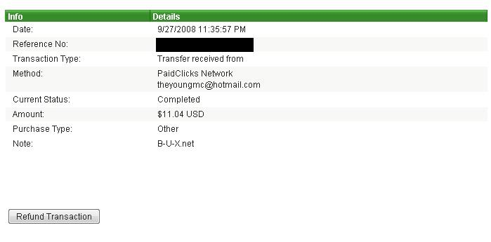 First Payment from B-u-x.net!!!!! Instant!! Paymentproof