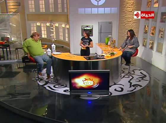 الحلقة السادسة من برنامج ريهام                                                                            على النار ضيوف الحلقة الجميلة داليا البحيرى 1-173