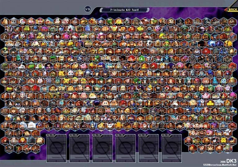 Super Smash Bros. 4 SuperSmashBrotherBrawlRoster1