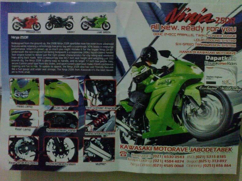 Iklan Ninja 250R Pertama di Motorplus IklanNinja250R