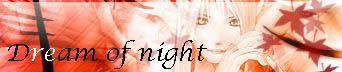 Dream of night Bannire