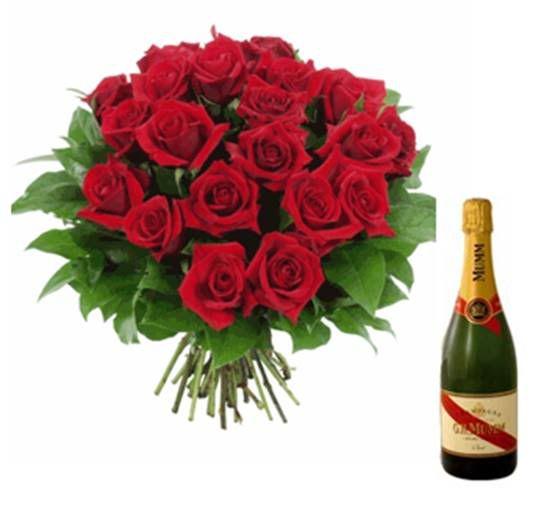 """Agence """"Poto Deco"""" - Page 2 Bouquet_de_roses_et_champagne_mumm_"""