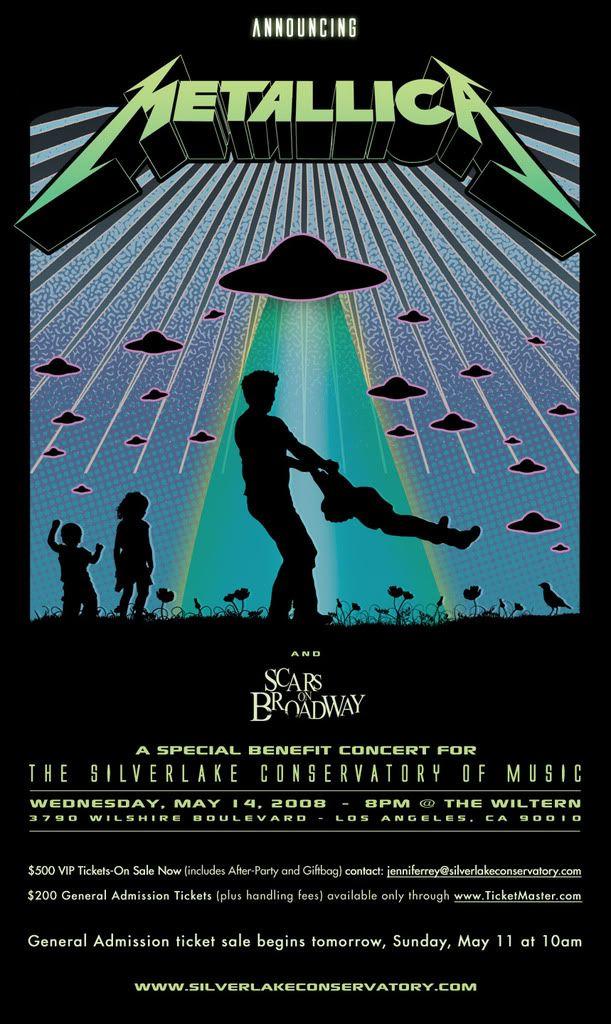[News] Scars On Broadway et Metallica le 14 mai. Metalica