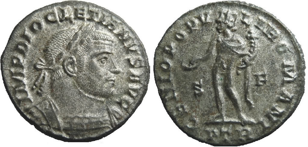 Follis de la Tetrarquía Dioclecia