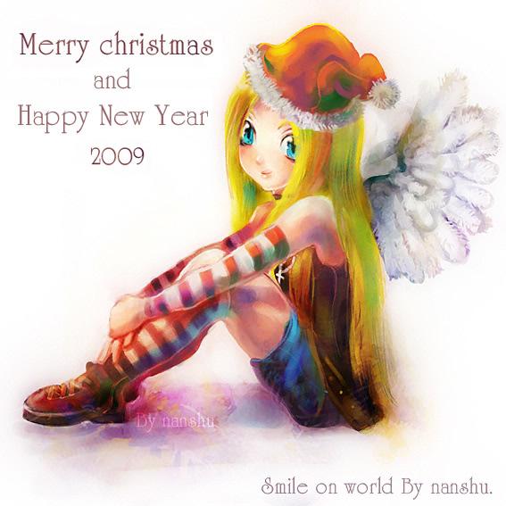 [Gallery]~NanShu~SinKid##>>Review VS Acar จบภาค 1<<(วาดหลายคน) Christmas_and_Happy_New_Year_by_nan