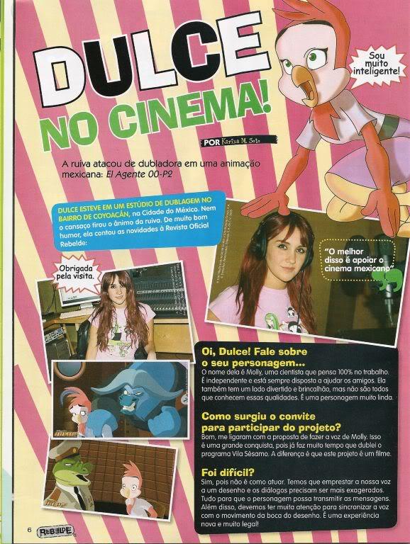 Dulce u Brazilskom chasopis uRebelde - novo izdanje 004