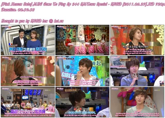 [Pink Heaven Subs] MBC Come To Play Ep 344 SMTown Special - SNSD [2011.06.27](SD