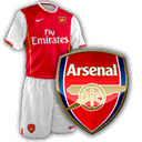 Camisetas con escudo Arsenal