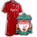 Camisetas con escudo Liverpool