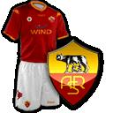 Camisetas con escudo Roma