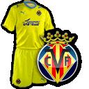 Camisetas con escudo Villarreal