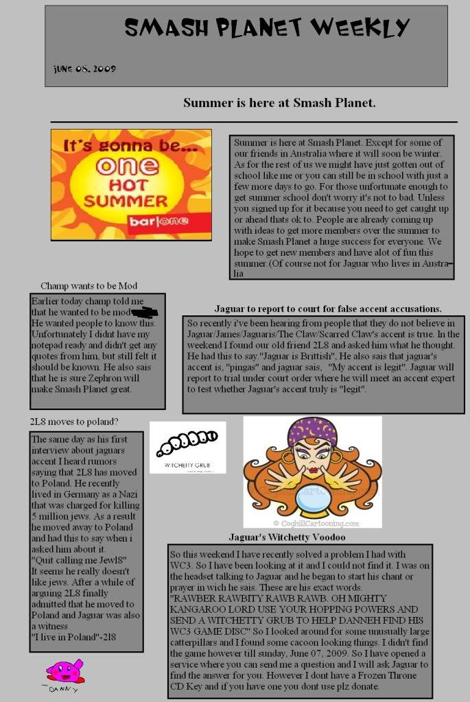 The Smash Planet Weekly Page1