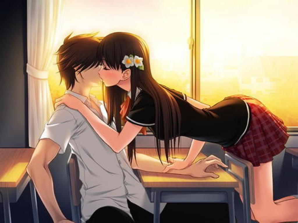 Line Art: Breaking the Ice  Anime-kiss