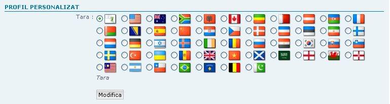Creare profil personalizat: Alegere ţară Tutorial6