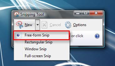 طريقة عمل صورة للشاشة  (screenshot) Snipping_Tool_3